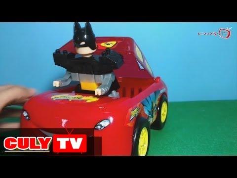 Xem Đồ chơi xe tải ô tô   Xe  hơi chở Batman lắp ráp xếp hình   Car carry Batman big lego