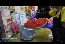 Xem cao thủ cắt gọt trái cây tại Đài Loan