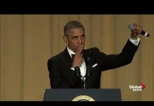 """View """"Obama out:"""" President Barack Obama's hilarious final White House correspondents' dinner speech"""