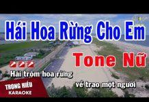 Xem Karaoke Hái Hoa Rừng Cho Em Tone Nữ Nhạc Sống | Trọng Hiếu