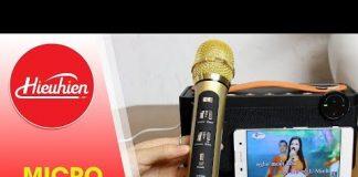 Xem Micro Xe Hoi Tuxun K9✅Hướng dẫn kết nối với loa di động Vidson hát Karaoke[Hieuhien.vn]