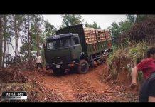 Xem Hồi hộp với pha xuống núi của xe KAMAZ chở gỗ