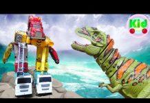Xem Siêu robot xe ô tô lắp ráp chiến đấu với khủng long – đồ chơi trẻ em A309S Mr Dung