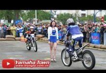 Xem Biểu diễn xe moto ôm Người Đẹp của tay đua Stunt Nhật Bản với Exciter 150 và Yamaha R3 ✔