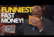 View FUNNIEST FAST MONEY MOMENTS EVER On Family Feud US | Bonus Round