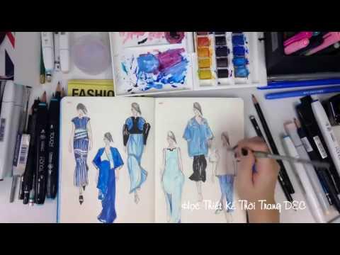 Xem Học thiết kế thời trang – Vẽ ý tưởng trên giấy