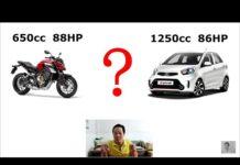 Tại sao Honda CBF 650cc mạnh hơn KIA Morning 1250cc ?