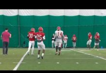 Video Spring Football Scrimmage