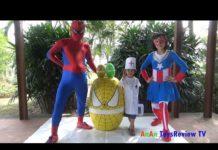 Xem GIANT EGG SURPRISE OPENING SPIDERMAN – Bóc Trứng Người Nhện Khổng Lồ ❤ Anan Toysreview TV ❤