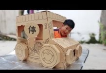 Xem Trò Chơi Nhà Giấy Xe Hơi ❤ ChiChi ToysReview TV ❤ Đồ Chơi Thiếu Nhi Baby Tent Car House Paper