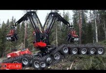 Xem công nghệ khai thác gỗ của người ta….