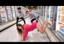 View FUNNY DARES IN GROCERY STORE WITH GIRLFRIEND!