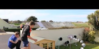Video ROOF TOP FOOTBALL CHALLENGES