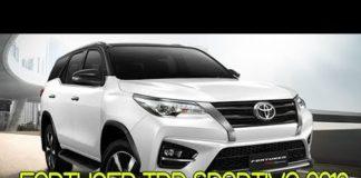 Xem Toyota Fortuner TRD Sportivo 2019 sắp trình làng | Tin Xe Hơi
