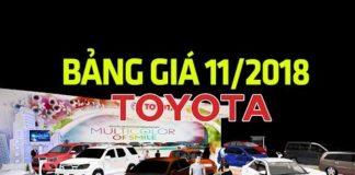 Xem Bảng giá xe ô tô Toyota cập nhật mới nhất tháng 11/2018 | Tin Xe Hơi