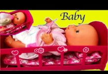 Xem Baby Doll BABAY SITTER! How to take care for a Little Baby