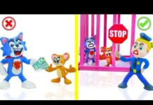 Xem SUPERHERO BABY POLICE STOPS TOM AND JERRY 💖 Play Doh Cartoons For Kids