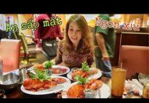 DU LỊCH MỸ-Ăn sấp mặt, Buffet tôm hùm hải sản ngon xỉu-MAY BELLA Vlog 66
