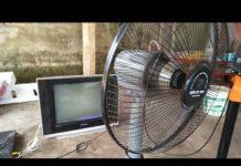 Xem Phát điện 22v từ mâm lửa xe máy 0981904969 xem tivi chạy quạt thắp sáng