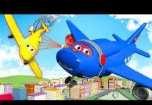 Xem Máy bay phản lực – Siêu xe tải Carl 🚚⍟ những bộ phim hoạt hình về xe tải