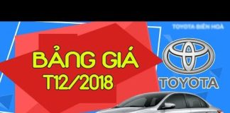 Xem Giá xe Toyota cập nhật mới nhất tháng 12/2018 #txh