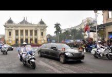 Xem Trực tiếp : Siêu xe Mercedes triệu USD đưa ông Kim Jong Un diễu phố Hà Nội, an ninh được siết chặt