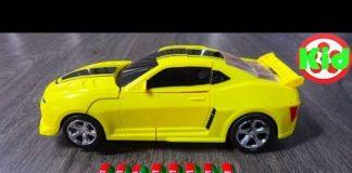 Xem Xe ô tô điều khiển từ xa BIẾN HÌNH – Yellow Bumblebee Transformer Toys – Car Toys Kid F507B
