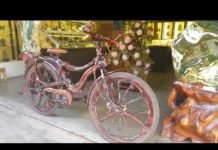 Xem ĐỘC LẠ  chiếc xe đạp làm bằng gỗ ở Hội An