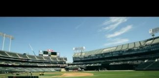 Video Flipping Oakland's Field from Baseball to Football
