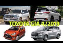 Xem Bảng giá xe ô tô Toyota tháng 4/2019 mới nhất tại Việt Nam #txh
