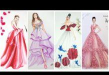 Xem Thiết Kế Thời Trang/Đỉnh Cao Của Những Bản Vẽ Váy Dạ Hội Tuyệt Đẹp