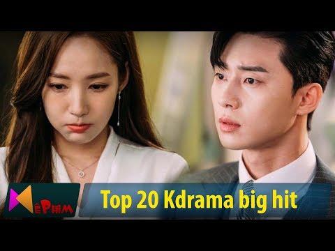 Xem Top 20 siêu phẩm truyền hình Hàn Quốc được xem nhiều nhất từ trước tới nay | Top 20 kdrama big hit