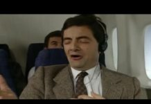 Xem On a Plane | Funny Clip | Mr. Bean Official