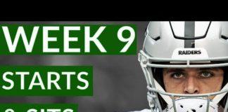 Video NFL Week 9 Fantasy Football Starts and Sits 2019