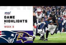 Video Patriots vs. Ravens Week 9 Highlights | NFL 2019