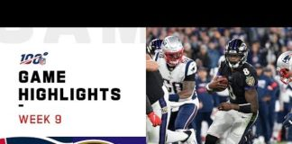 Video Patriots vs. Ravens Week 9 Highlights | NFL 2019