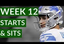 Video NFL Week 12 Fantasy Football Starts and Sits 2019