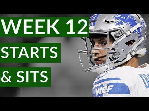 Video NFL Week 12 Fantasy Football Starts and Sits 2019
