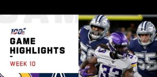 Video Vikings vs. Cowboys Week 10 Highlights | NFL 2019