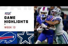 Video Bills vs. Cowboys Week 13 Highlights | NFL 2019