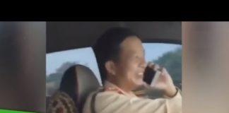 Xem Thiếu tá CSGT vừa lái ô tô vừa nghe điện thoại | THDT