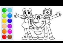 Xem Vẽ và tô màu Shizuka Doraemon Nobita phim hoạt hình Doraemon