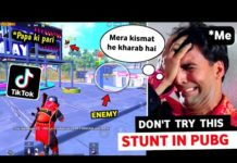 View DON'T TRY THIS STUNT 🤕 IN PUBG MOBILE | PUBG TIKTOK FUNNY MOMENTS