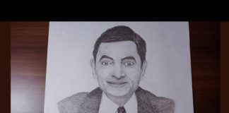 Xem Mr. Bean portrait with pencil step by step