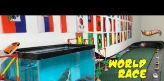 Xem Hot Wheels Fat Track Battle of the Countries | Shark Tank jump epic tournament race!