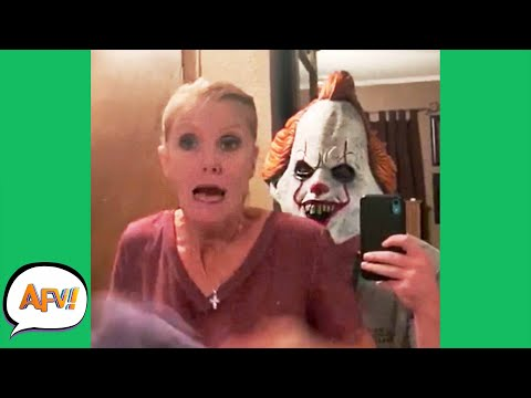 View Try Not To SCREAM! (She FAILS) 😱😆 | Funny Pranks and Fails | AFV 2020