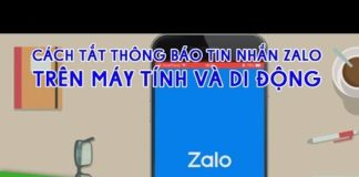 Xem Cách tắt thông báo tin nhắn Zalo trên di động và máy tính | THDT