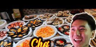 ĂN HẢI SẢN ở chợ Tây Ban Nha  Du lịch Châu Âu